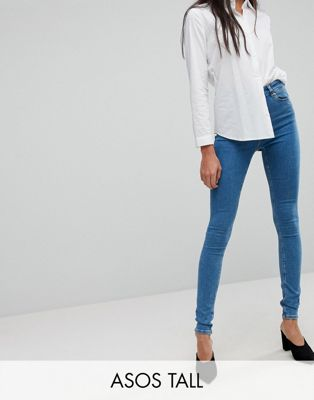 ASOS TALL RIDLEY Skinny Jean In Lily Pretty Mid Wash Blue