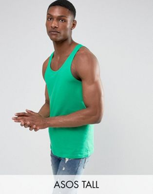 ASOS TALL Skater Vest In Green