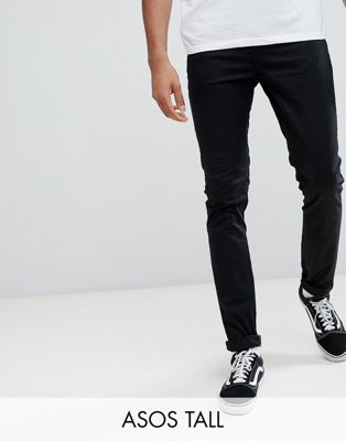 ASOS TALL Skinny Chinos In Black
