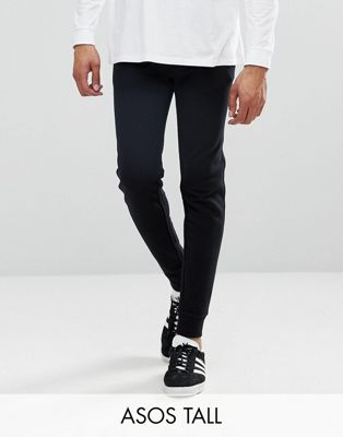 ASOS TALL Skinny Joggers With Zip Pockets In Black