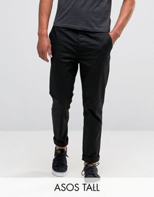 ASOS TALL Slim Chinos in Black