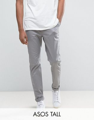 ASOS TALL Slim Chinos In Warm Grey