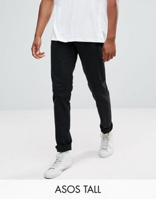 ASOS TALL Stretch Slim Jeans In Black