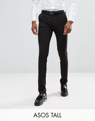 ASOS TALL Super Skinny Smart Trousers in Black