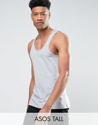 ASOS TALL Tank In Gray Marl