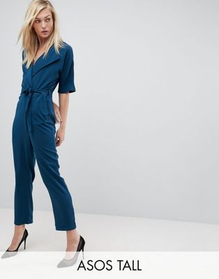 ASOS TALL Wrap Jumpsuit with Self Belt