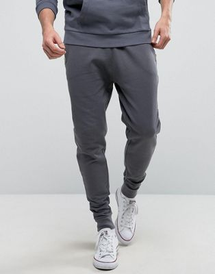 ASOS Tapered Joggers With Zips In Grey