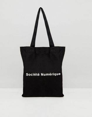 ASOS Tote Bag With Societe Numerique Print