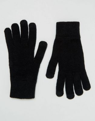 ASOS Touchscreen Gloves In Black