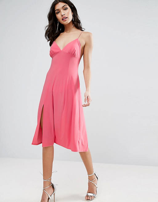 ASOS Trapeze Cami Midi Slip Dress