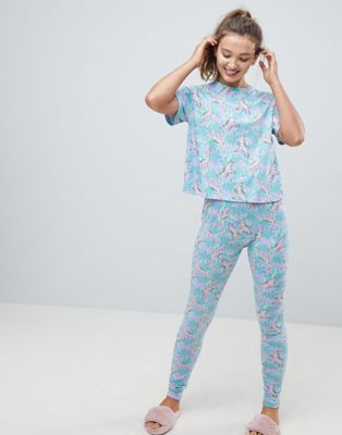 ASOS Tropical Dinosaur Tee and Legging Pyjama Set