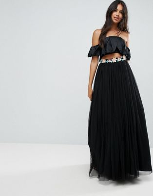 ASOS Tulle Maxi Skirt with Embellished Waistband