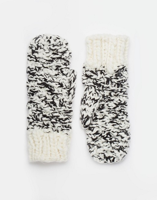 ASOS Twist Knit Mittens