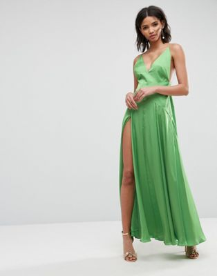 ASOS ULTIMATE Cami Thigh Split Maxi Dress