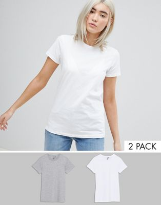 ASOS Ultimate T-Shirt with Crew Neck 2 Pack Save 15%