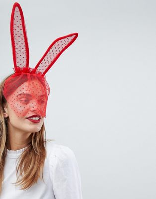 ASOS Valentine Spotty Bunny Ears with Veil