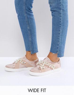 Image 1 of ASOS VINO Wide Fit Embellished Sneakers