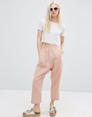 ASOS Washed Casual Straight Leg Trousers