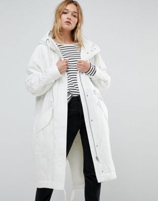 ASOS Washed Parka with Borg Lining