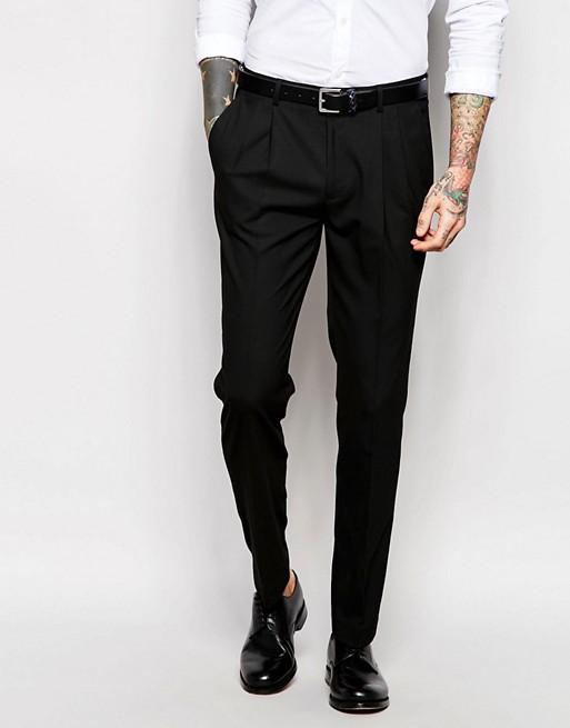 ASOS - Costume cintré avec veste queue de pie - Noir 892f16113c83