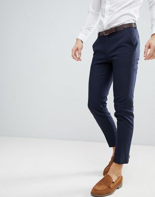 ASOS Wedding Skinny Suit Trouser In Navy