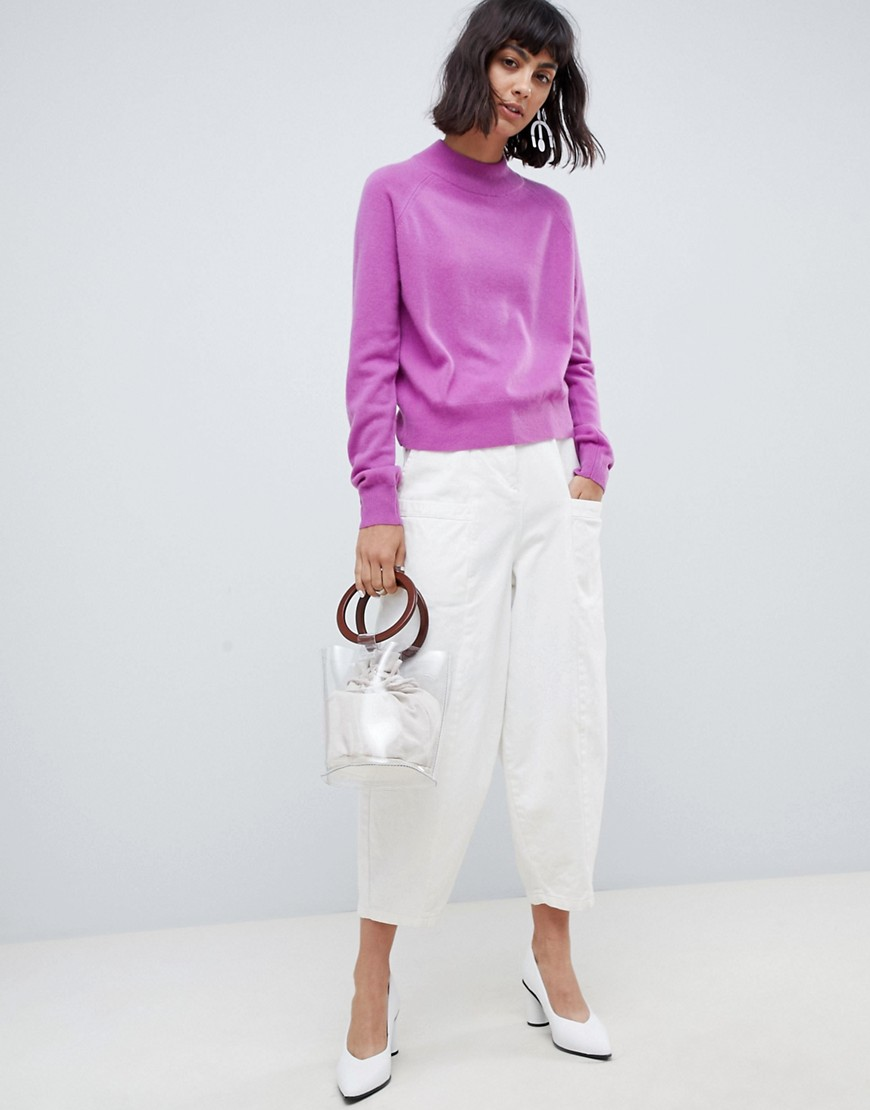 Asos White 100 Percents Cashmere Sweater With Turtleneck by Asos White