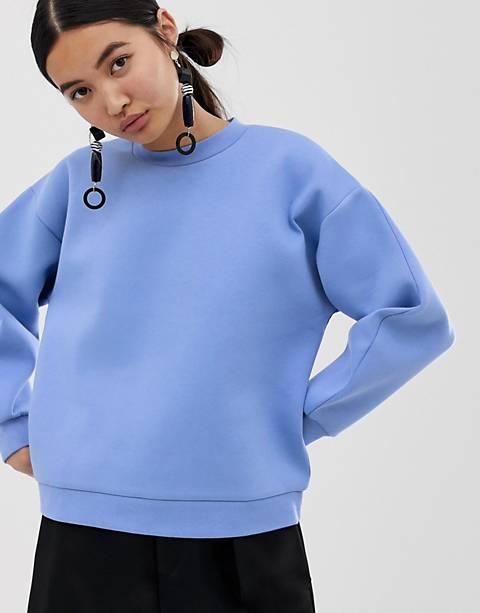 ASOS WHITE bonded sweatshirt