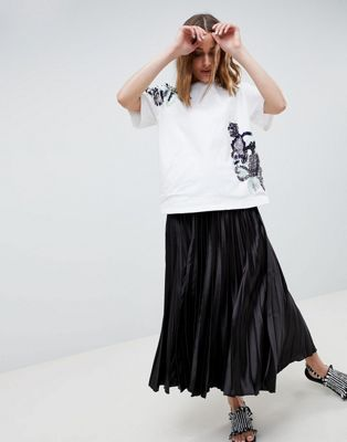 Image 1 of ASOS WHITE embellished t-shirt