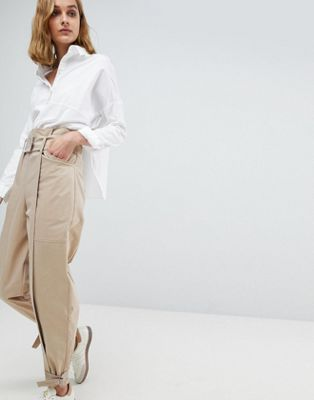 ASOS WHITE High Waist Co-ord Trouser