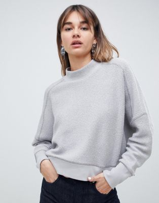 ASOS WHITE inside out sweatshirt