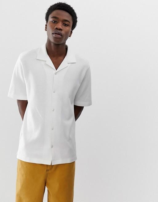 Bild 1 von ASOS WHITE – Lockeres, strukturiertes Hemd mit Reverskragen
