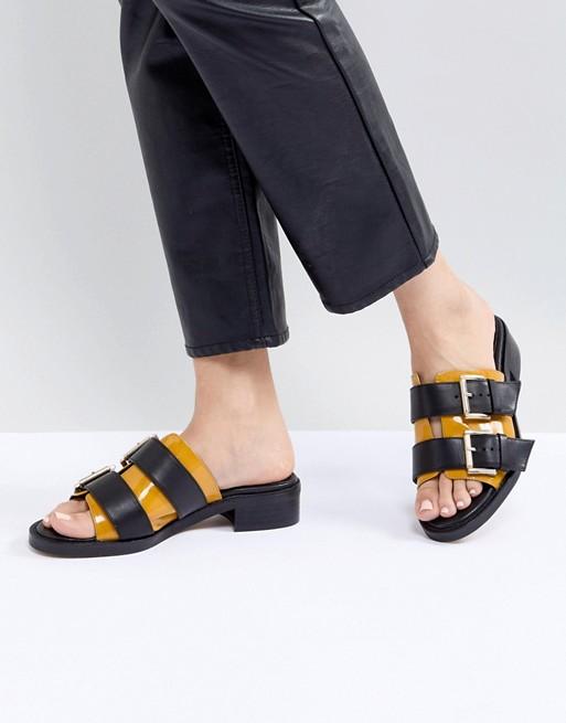 ASOS WHITE Marigold Leather Chunky Sandals