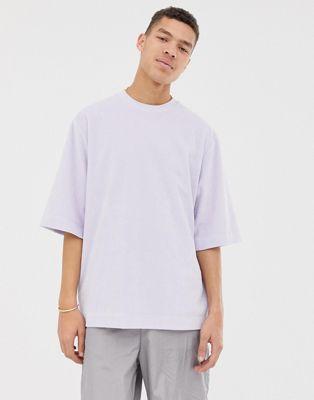 ASOS WHITE oversized t-shirt in dusky lilac velour