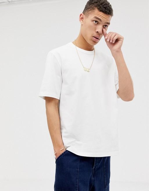 Ample Épais Tissu WhiteT Asos Blanc shirt En UqMpSzVGL
