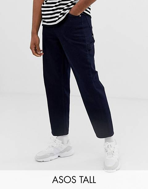 ASOS WHITE Tall skater jeans in neppy indigo denim