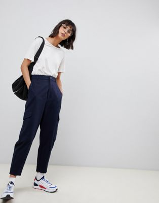 ASOS WHITE trousers with side pockets