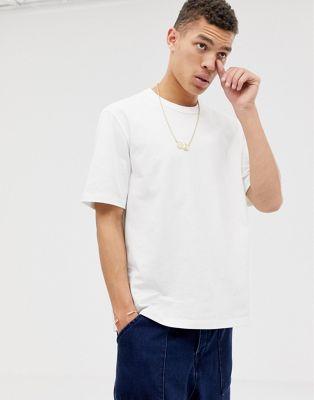 Afbeelding 1 van ASOS WHITE - Zwaar T-shirt met een losvallende pasvorm in wit