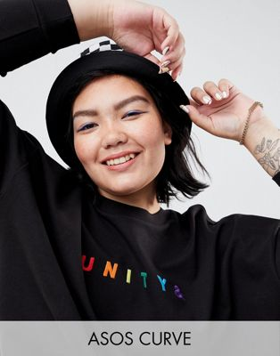 ASOS x GLAAD Curve Oversized Sweatshirt With Embroidery