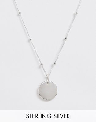 Astrid & Miyu plated sterling silver coin necklace