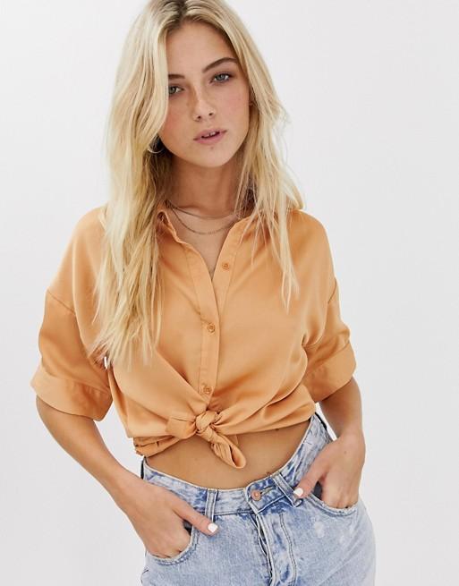Изображение 1 из Атласная блузка Glamorous
