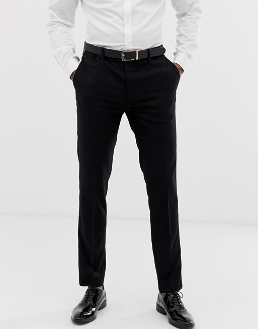 Avail London – Enge Anzughose in Schwarz