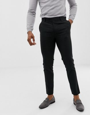 Avail London skinny suit pants in black