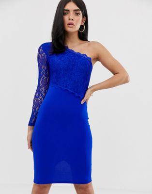 Bild 1 av AX Paris – Bodycon-klänning i spets med bar axel