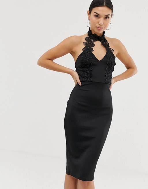 Image 1 of AX Paris cut out detail midi dress