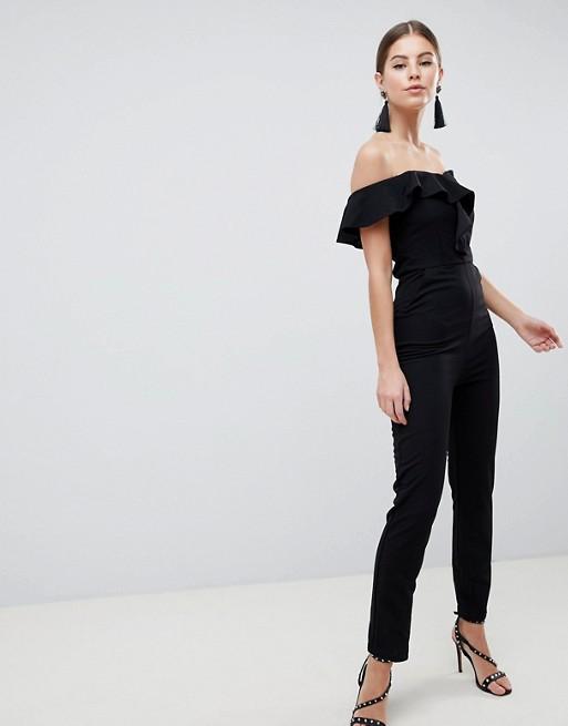 Afbeelding 1 van AX Paris - Elegante Bardot-jumpsuit