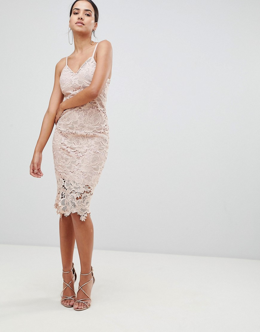 Ax Paris Lace Cami Midi Dress by Lace Dress