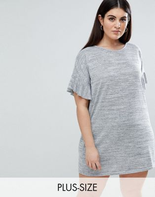AX Paris Plus Ruffle Sleeve T-Shirt Dress