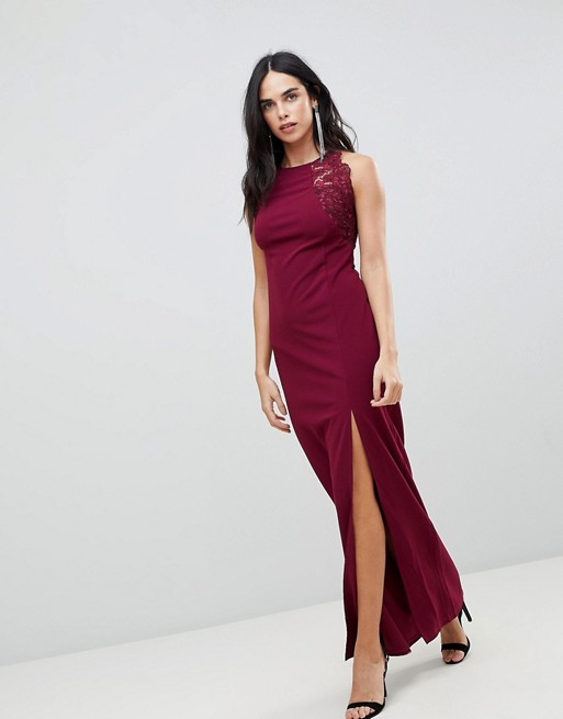 429fd024fa4e AX Paris Slinky Maxi Dress With Side Slit | ASOS