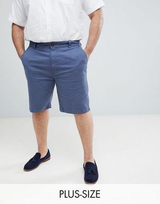 BadRhino - Big - Chinoshort met stretch in blauw