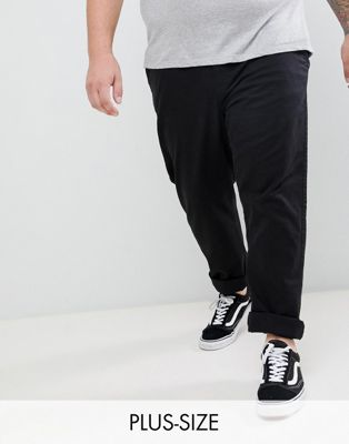 BadRhino Big Stretch Chino Pants in Black